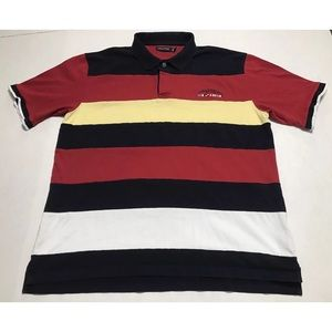 Vintage 90s Nautica Color Block Multicolor Polo